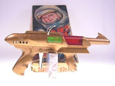 "GSGUN ""GOLDEN SPACE GUN"" JAPAN, 30cm, PLASTIC, FR OK, VERY GOOD n BAD BOX"