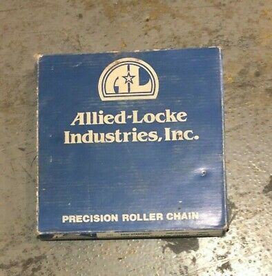 "Allied-Locke C2040R Double Pitch Stainless Steel Roller Chain 1 x 5/16"", SS, 10'"