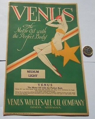 2 Different Stunning Rare Art Deco Advertising Prints Motor Oil Dated  1929