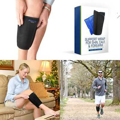 Shin Support Brace Wrap W Ice Gel Pack For Hot & Cold Therapy Great Compression