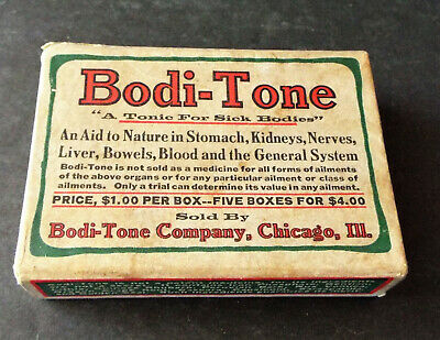 Antique Patent Medicine Original Box Bodi-Tone Tonic
