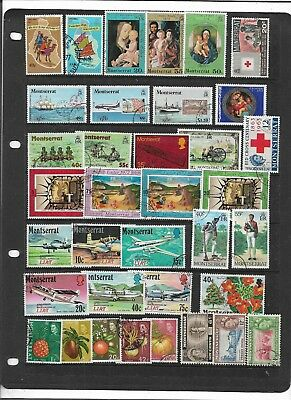Montserrat  Qe2 Period Used Collection With Some Sets!!