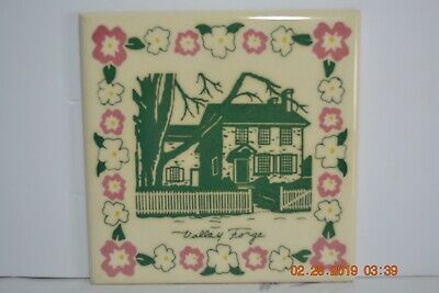 Vintage Valley Forge Decorative  Tile by American & Encaustic