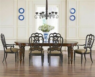 Thomasville Furniture Fredericksburg Mahogany Oval Dining Table Chair Set