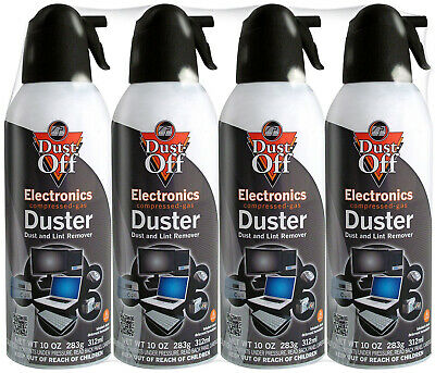 Dust Off Compressed Duster Falcon for Computer & Keyboard 10oz 4 Pack FREE SHIP