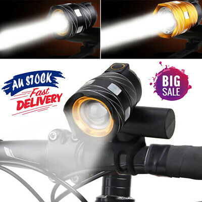 Rechargeable LED Bike Front Light Bicycle LED Lamp Headlight Flashlight USB AU