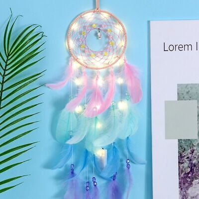 Dream Catcher Net With Feathers Beads Dreamcatcher Wind Chime Wall Hanging Decor