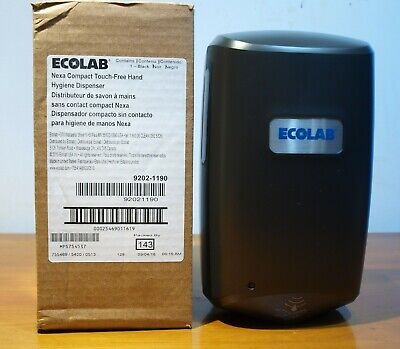 Lot 2 ECOLAB NEXA CLASSIC TOUCH FREE HAND HYGIENE SOAP DISPENSERS 9202-1190