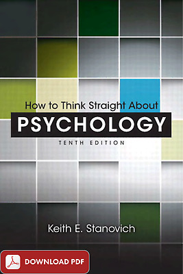 How to Think Straight about Psychology (p d f . e P u b)