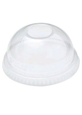 12oz Solo Plastic Domed Lids x 50 with Straw Hole fits M22 TP22 Y12 Cups & SD35