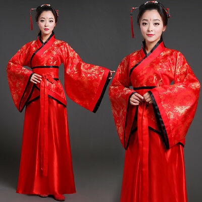 Womens ancient time Chinese Han Dynasty Ruqun dress court costumes dress sizes #