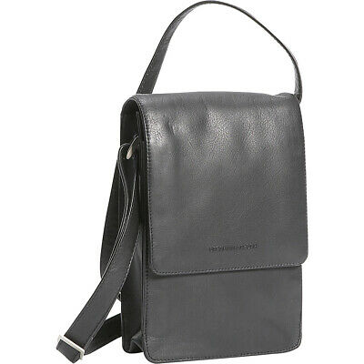 Derek Alexander North/South Unisex Flap Over - Black Cross-Body Bag NEW