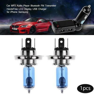 2x 100W DC 12V HOD Xenon H4 White 6000k Halogen Car Head Light Globes Bulb Lamps
