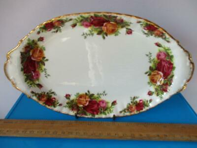 ROYAL ALBERT OLD COUNTRY ROSE PATTERN Pretty Oval Pickle Dish