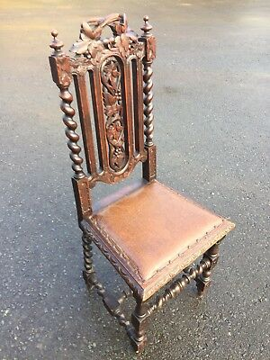 Highly Carved Oak Jacobean Chair