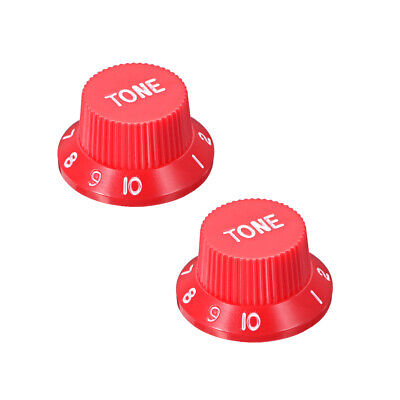 Red 6mm Potentiometer Knobs For Electric Guitar Acrylic Volume Tone Knobs 2pcs