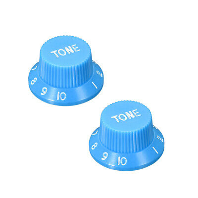 Blue 6mm Potentiometer Knobs For Electric Guitar Acrylic Volume Tone Knobs 2pcs