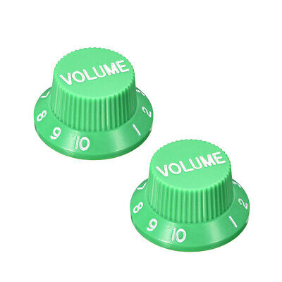 6mm Potentiometer Knobs For Electric Guitar Acrylic Volume Tone Knobs 2pcs Green