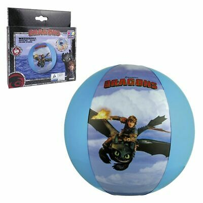 Beach Ball Hicks and Toothless 33 cm Dreamworks Dragons Children