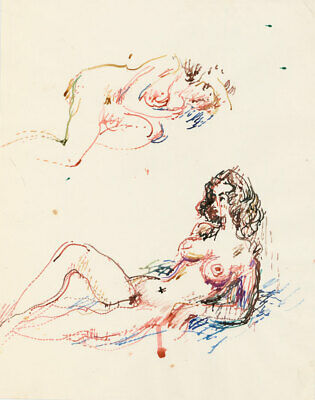 Peter Collins ARCA - c.1970s Watercolour, Nudes in Colour