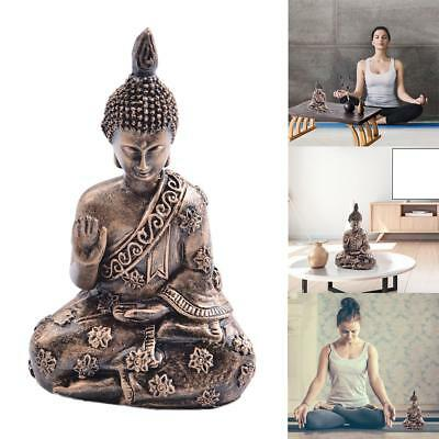 Meditation Seated Buddha Statue Sandstone Decor Figurine Furnishing Article Art