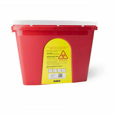 4 Gallon Sharps Container, Biohazard Container, Locking Top Flap