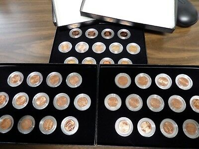 2002 - 2011, 39 Coin PDS Unc. & Proof Lincoln Memorial & Shield 1 Cent Penny Set