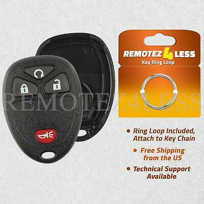 For Replacement Keyless Entry Remote Key Fob Shell Case 4 Button Pad OUC60270
