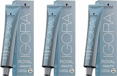 Schwarzkopf Igora Royal Highlifts 12-19 Spezialblond Cendré Violett 60 ml 3x60