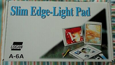"Vtg Mint Box Logan Electric Model A-6A A6A Black Slim Edge Light Pad Box 7"" X 5"""