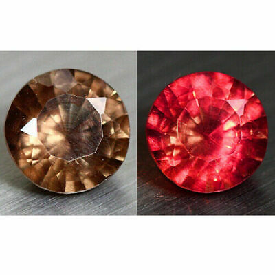 1.62ct ROMANTIC RED ROUND BRILLIANT NATURAL COLOR CHANGE GARNET LOOSE GEMSTONE