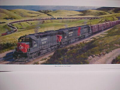 ". 7316 SP,/""Extra 3801 West of Santa Rosa/"" 12X24/"",signed Railroad Art,Winfield"