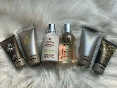 Molton Brown Black Peppercorn Body Lotion 100ml Set 6 Piece (ref 121) Brand New