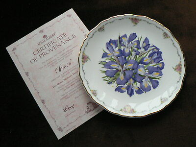 Royal Albert Collector Plate, Irises, Queen Mother's Favourite Flowers