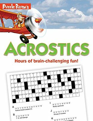 Puzzle Baron's Acrostics by Puzzle Baron and Stephen P. Ryder (2012, Paperback)