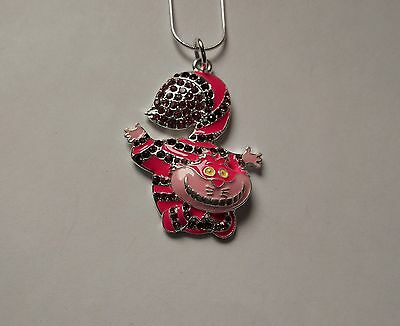 Unwanted CHESHIRE CAT Inspired Large Charm Gift NECKLACE Alice Wonderland