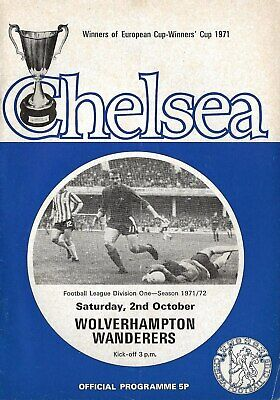 Football Programme>CHELSEA v WOLVES Oct 1971