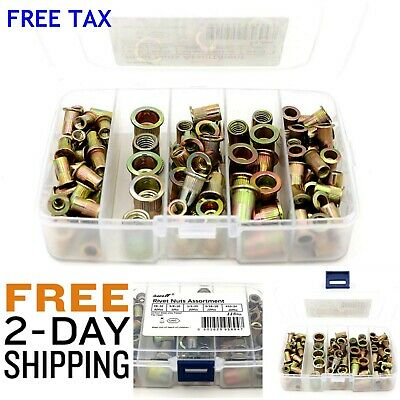 Fasteners & Hardware 115pcs Nut Rivet Threaded Insert Kit Rivnut