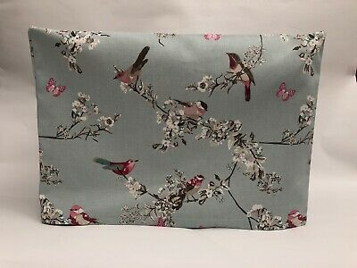❤️Beautiful Birds Duck Egg Fabric❤️ Sewing Machine Dust Cover