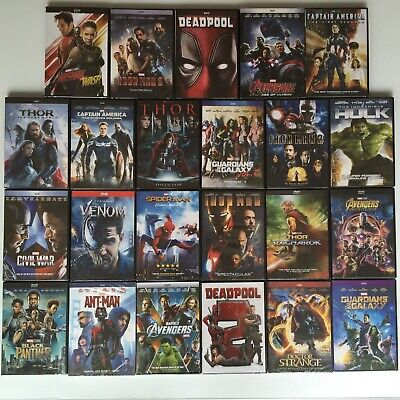 Pick 6 From 20 Marvel Lot DVD Venom Hulk Ant-man Iron Man Thor The Avengers etc.