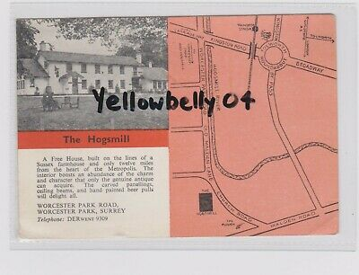 Worcester Park Hogsmill Pub Col Ppc Pu 1962 Large Size Pc Goodhews Series