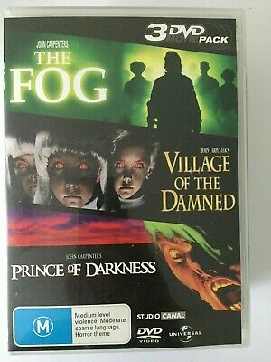 The Fog  Village Of The Damned  Prince Of Darkness DVD 3 Horror Movies