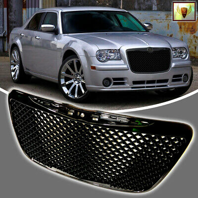 Fits For 2011 2015 Chrysler 300C Front Mesh Grill Gloss Black Grille