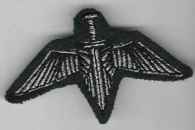 South Africa Bophuthatswana Special Forces Winged Dagger Green Patch / Badge