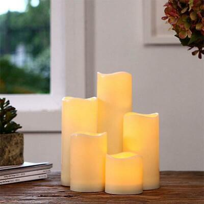 Flameless LED Candle Flickering Tea Light Battery Operated Home Candles 4-Sizes