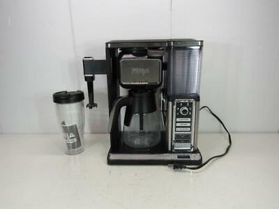 Ninja CF092 Auto-IQ Coffee Maker Brewer Bar with Glass Carafe and Accessories