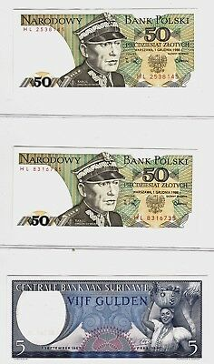 14 World Paper Notes Excellent lot = 12 UNC & 2 circulated
