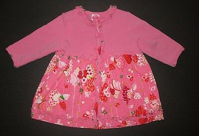 c05a3c4afef18d Infant Girls Cakewalk Girly Spirit Pink Floral Corduroy Ruffle Dress Size  12 Mon