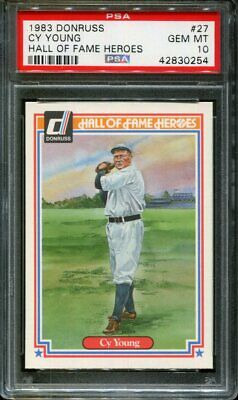 1983 Donruss Hall Of Fame Heroes #27 Cy Young Hof Psa 10 B2677236-254