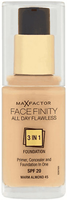 Max Factor Foundation Facefinity 3in1  - Warm Almond 45